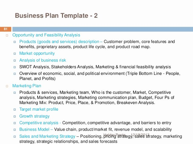 Business Analysis Plan Template Luxury Fundamentals Of Strategic Planning Helder Ponte