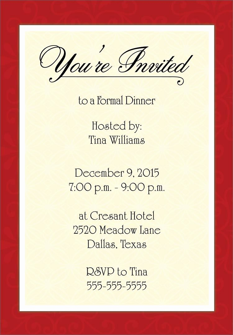 Business Dinner Invitation Template Fresh for Corporate Dinner Invitation