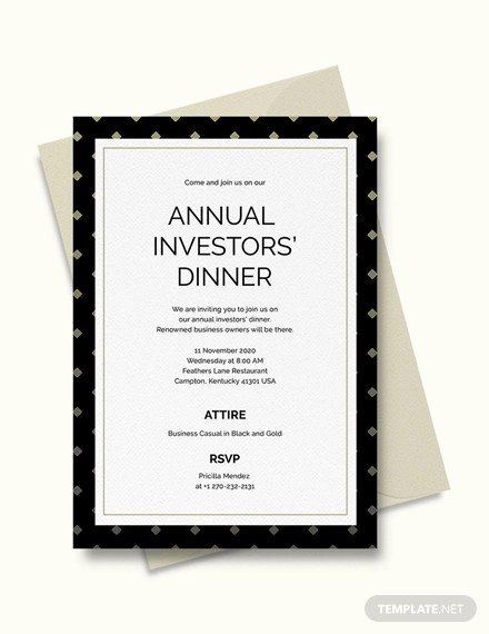 Business Dinner Invitation Template Inspirational 30 Best Business Invitations Psd Ai Vector Eps