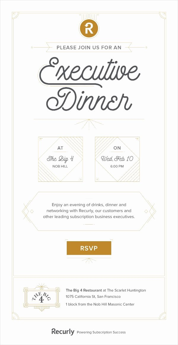 Business Dinner Invitation Template New 23 Business Invitation Designs & Examples Psd Ai