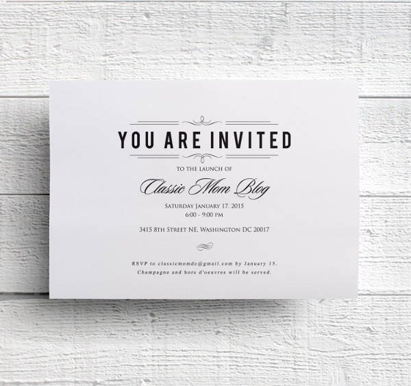 dinner invitation psd