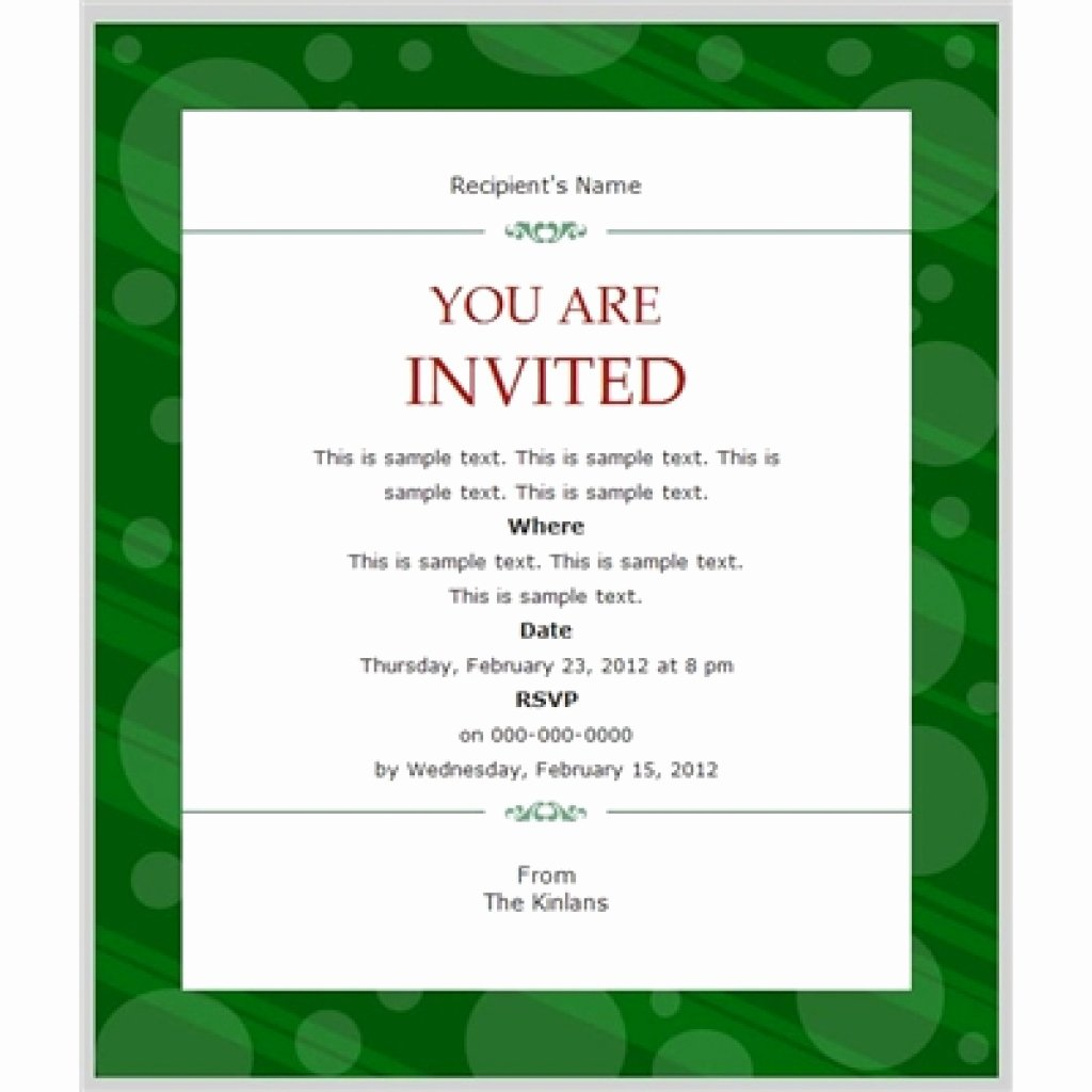 Business Dinner Invitation Template Unique Business Invitation Templates Free
