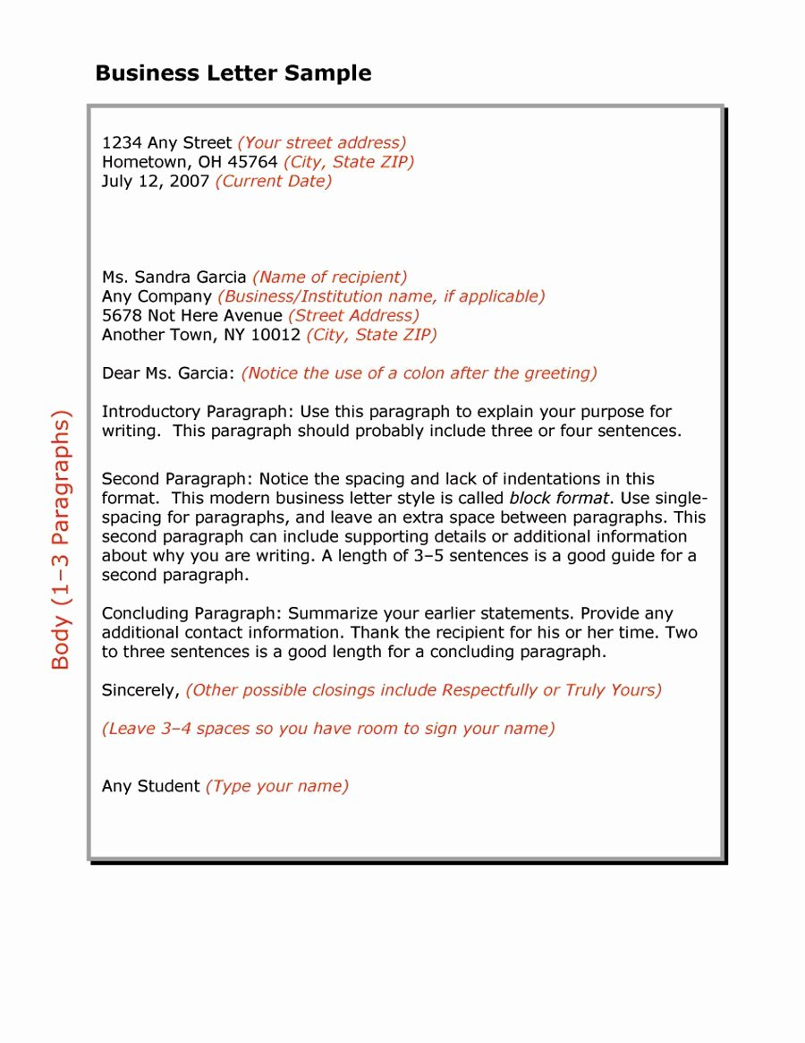 Business form Letter Template New 35 formal Business Letter format Templates & Examples
