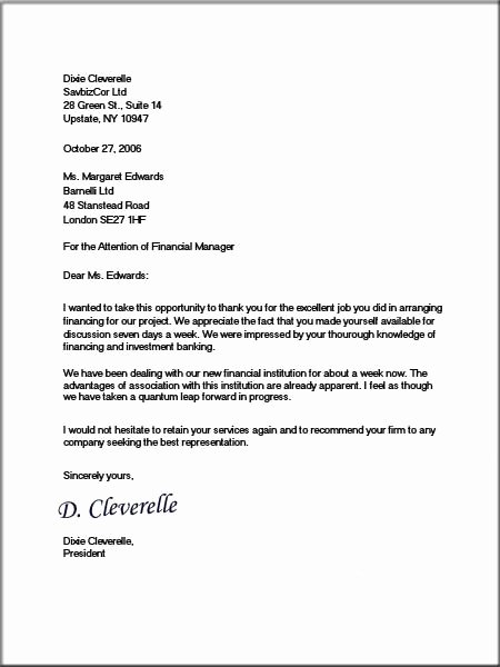 Business Letter format Template Awesome Ficial Letter format