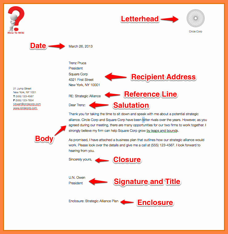 Business Letter format Template Fresh How to Write A Business Letter for A Pany [with Example