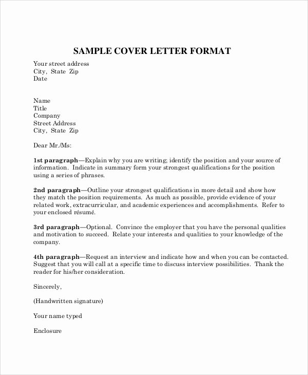 Business Letter format Template Inspirational 8 Sample Business Letter formats Pdf Word