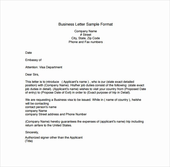 Business Letter format Template Inspirational Free 28 Sample Business Letters format In Pdf