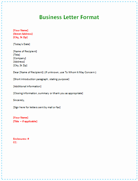 Business Letter format Template Lovely 60 Business Letter Samples & Templates to format A