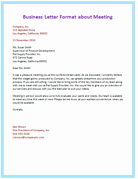 Business Letter format Template Luxury 6 Samples Of Business Letter format to Write A Perfect Letter
