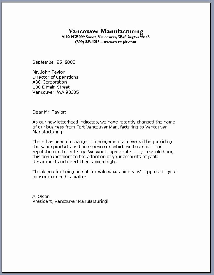 Business Letter format Template New Importance Knowing the Business Letter format