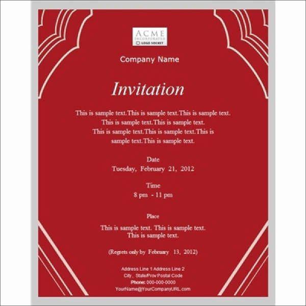 Business Meeting Invitation Template Beautiful 52 Meeting Invitation Designs