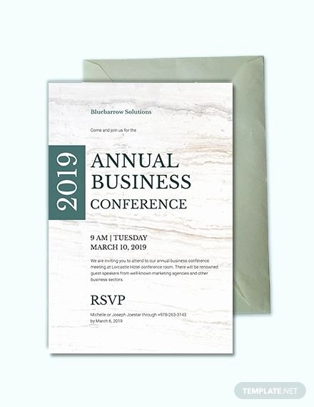 Business Meeting Invitation Template Fresh Business Conference Invitation