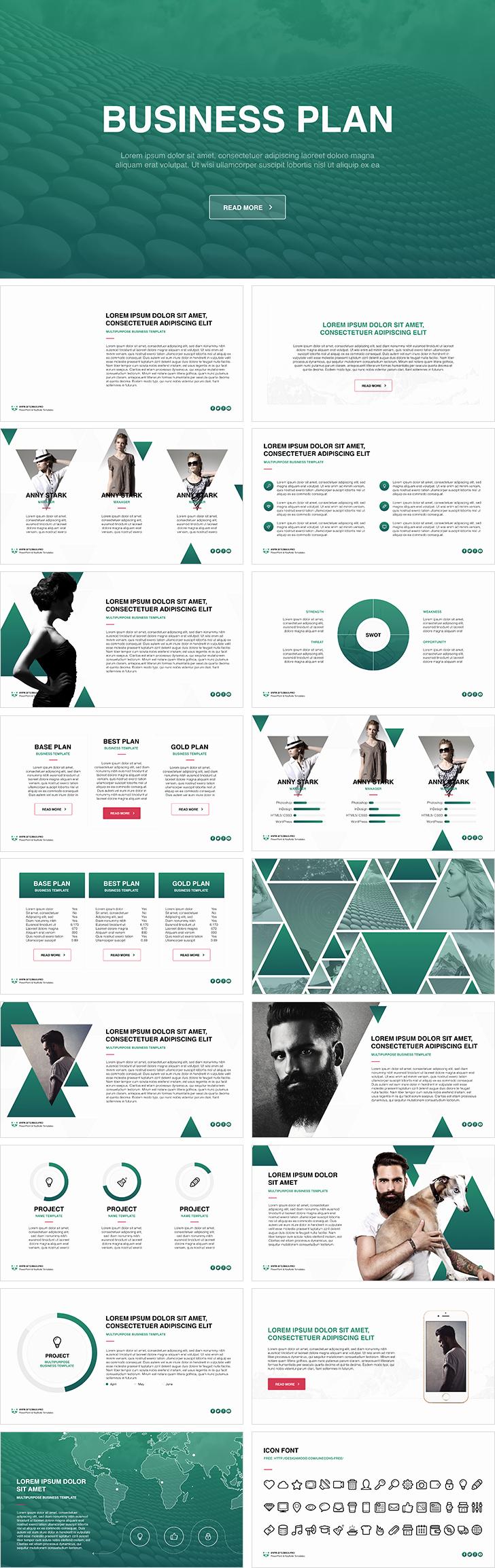 Business Plan Powerpoint Template Beautiful Business Plan Free Powerpoint Template Download Free