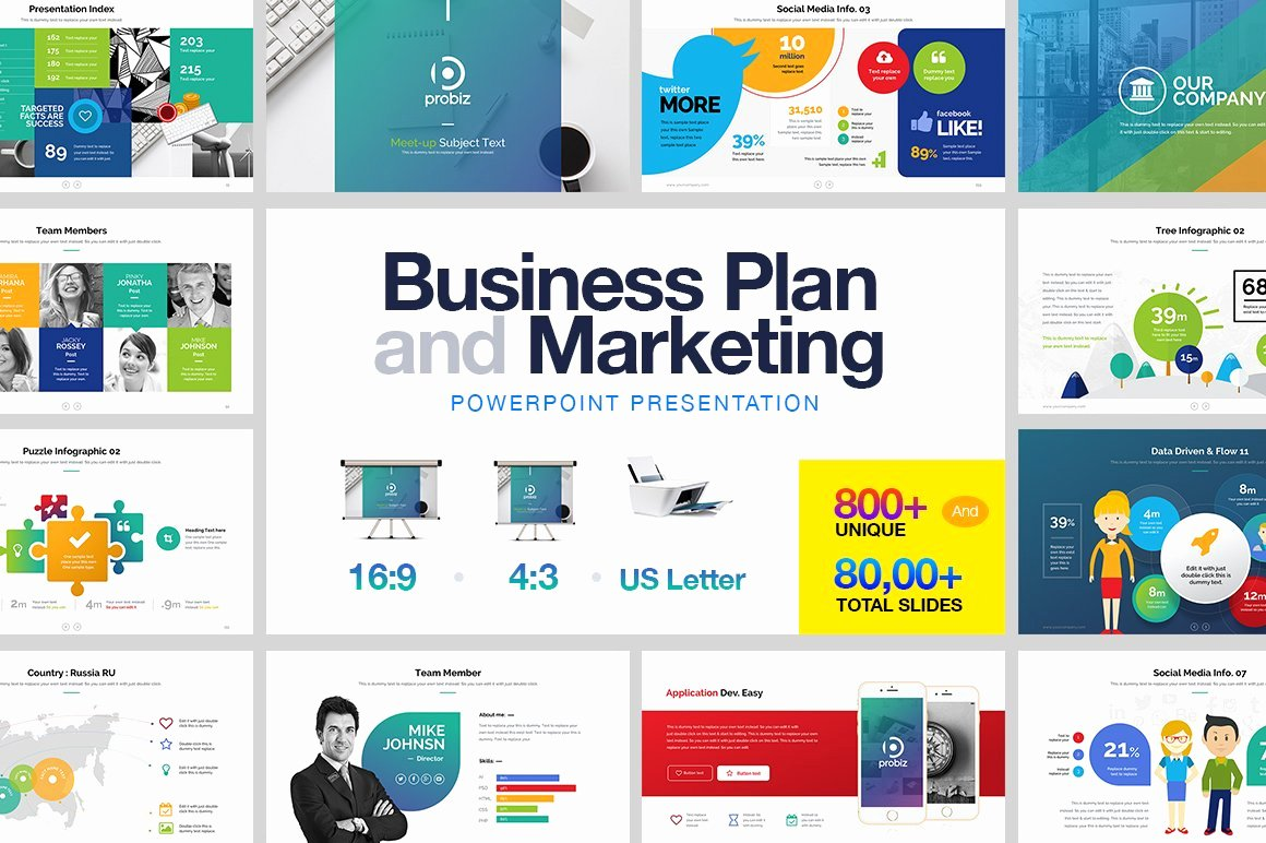 Business Plan Powerpoint Template Unique Business Plan & Marketing Powerpoint Presentation