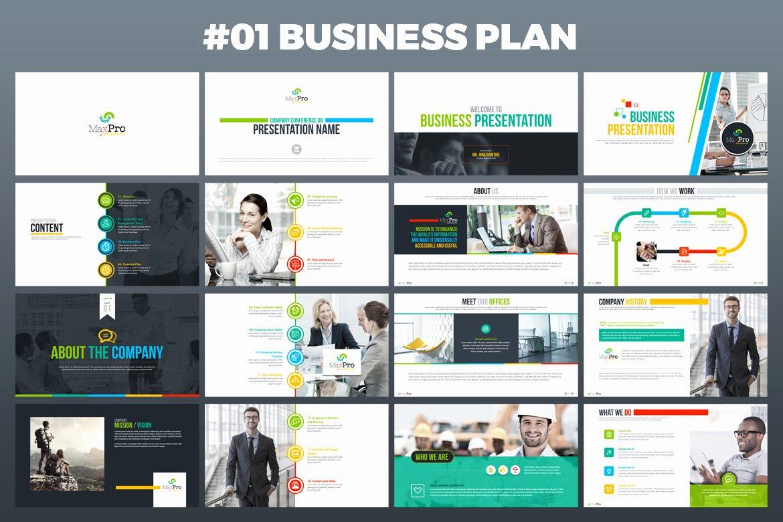 Business Plan Powerpoint Template Unique Maxpro Business Plan Powerpoint Presentation Template