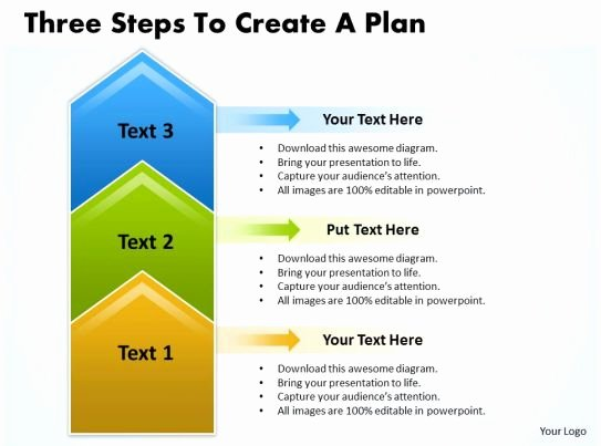 Business Plan Template for Kids Fresh Business Powerpoint Templates Three Steps to Create Plan