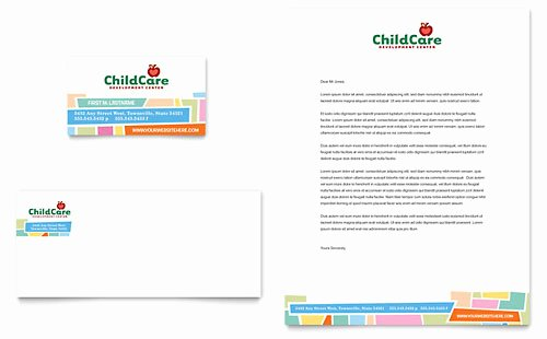 Business Plan Template for Kids Fresh Preschool & Kindergarten Letterhead Templates Word