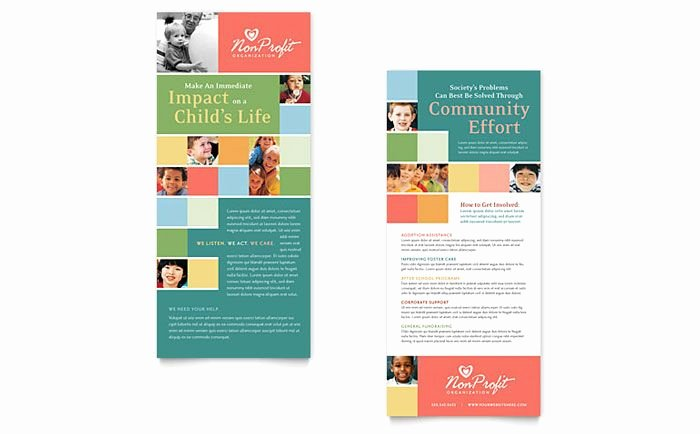 Business Plan Template for Kids Lovely Non Profit association for Children Rack Card Template