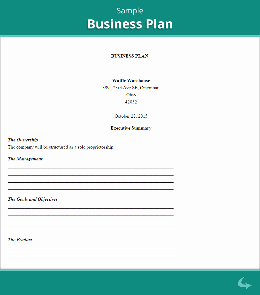 Business Proposal format Template Awesome Business Plan Template