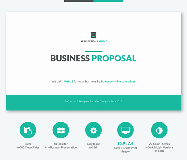 Business Proposal format Template Best Of Business Proposal Powerpoint Template On Behance