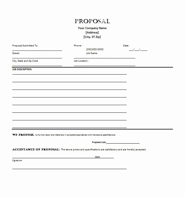 Business Proposal format Template Fresh 30 Business Proposal Templates & Proposal Letter Samples