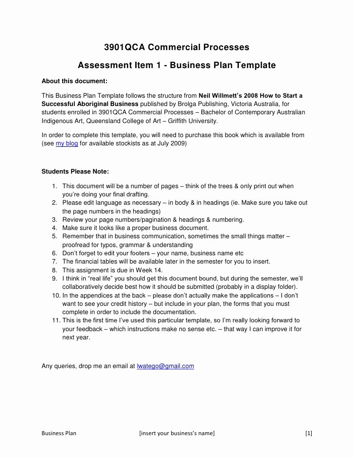 Business Proposal format Template Fresh 3901 Qca Business Plan Concept Template