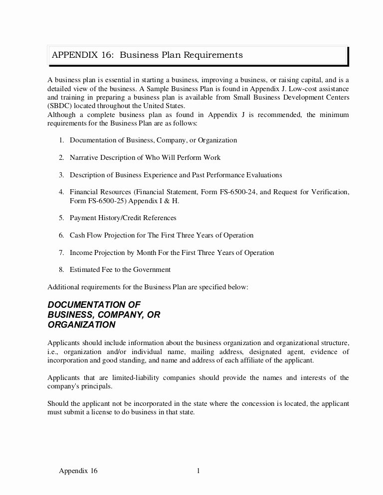 Business Proposal format Template Inspirational Appendix 16 Sample Business Plan