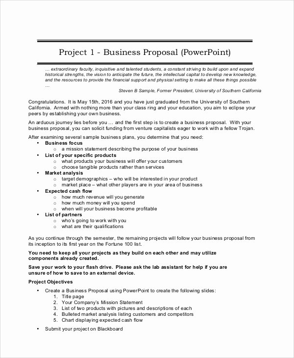 Business Proposal format Template Luxury Project Proposal Sample 12 Documents In Pdf Word