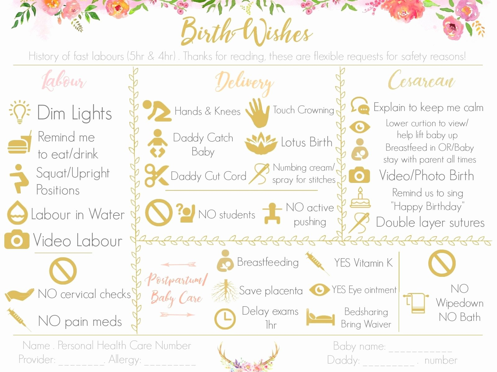 C Section Birth Plan Template Unique Make A Visual Birth Plan Easy to Read and Fun to Look at