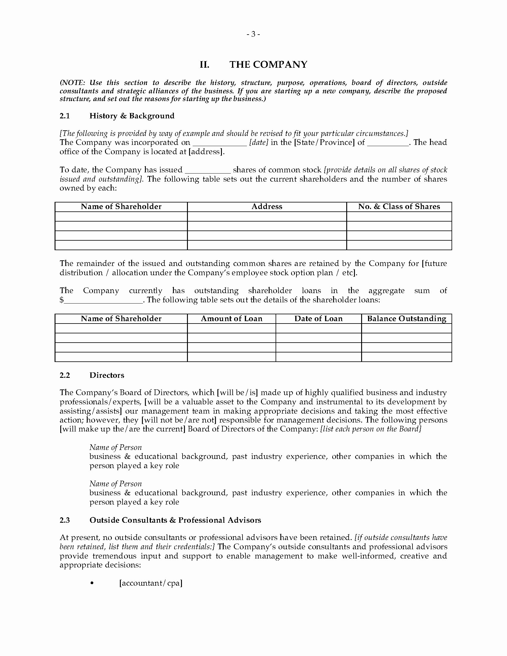 Campground Business Plan Template Awesome Campground Business Plan