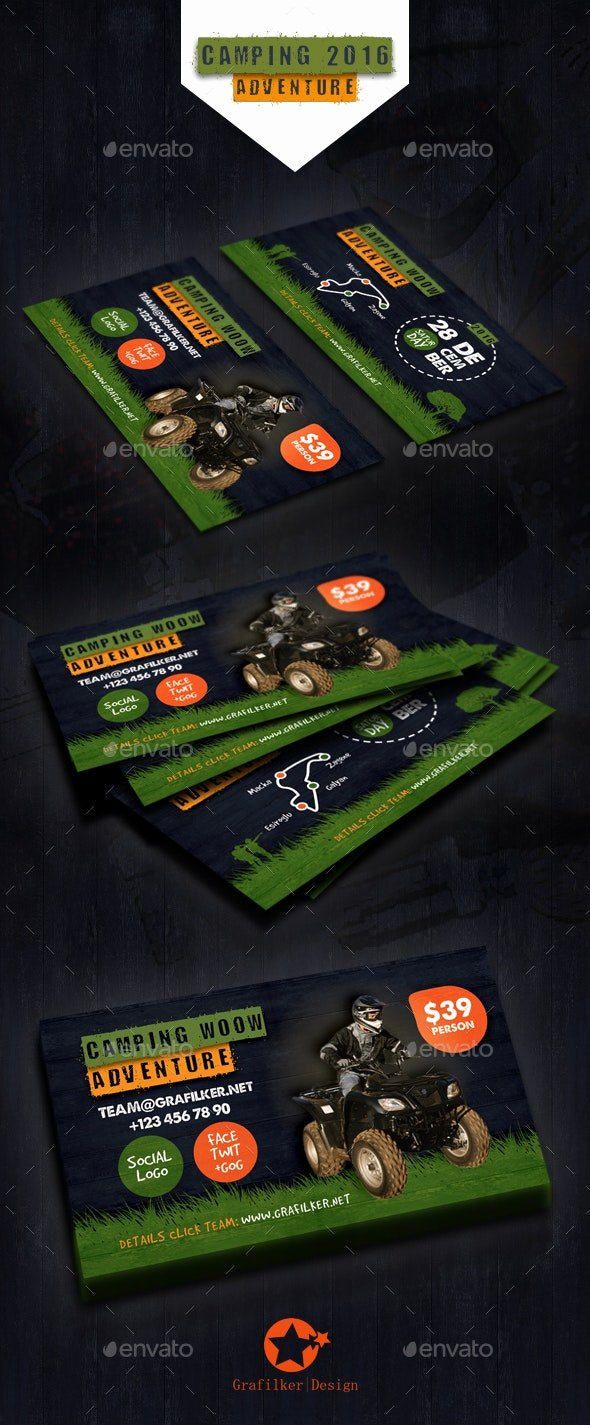 Campground Business Plan Template Beautiful Camping Adventure Business Card Templates by Grafilker