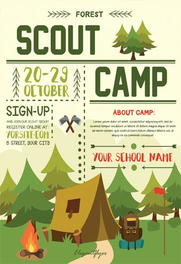 Campground Business Plan Template Fresh Free Psd Flyer Templates for Party event Business