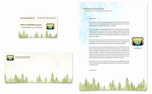 Campground Business Plan Template Inspirational Nature Camping & Hiking Newsletter Template Design