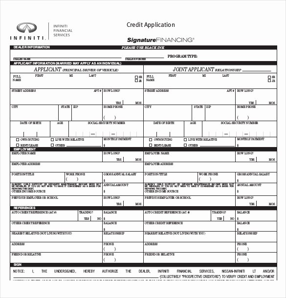 Car Loan Application form Template Beautiful Auto Credit Application Template