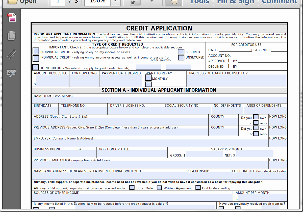 Car Loan Application form Template Elegant Collect Credit Applications Line with formstack