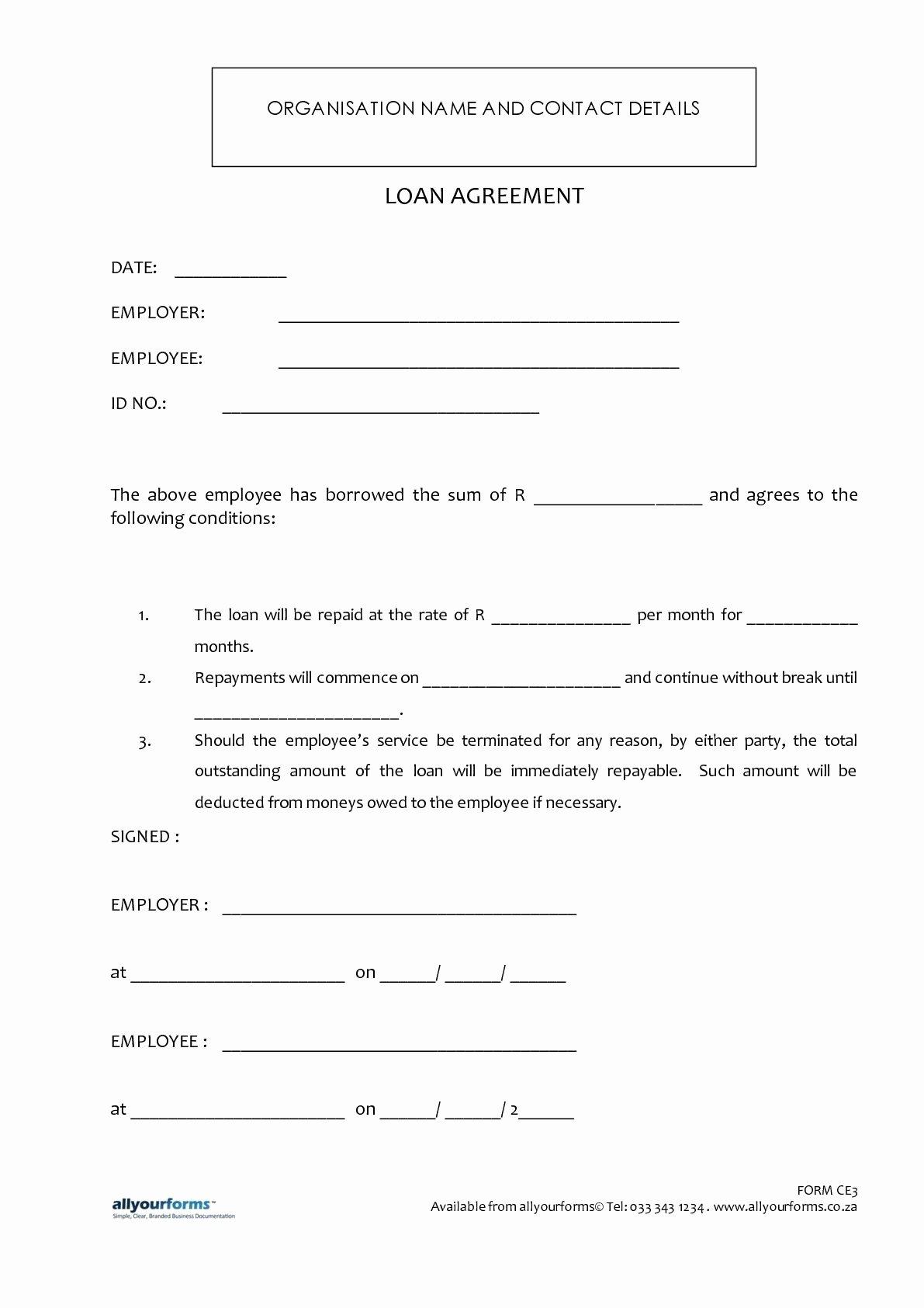 Car Loan Application form Template Elegant Printable Sample Loan Template form