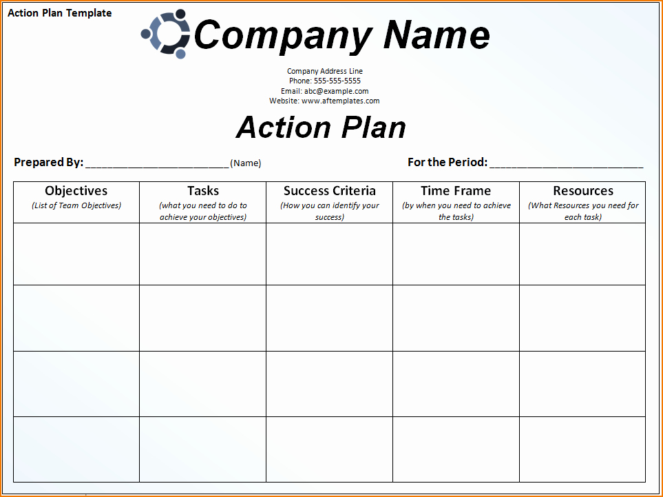 Career Action Plan Template Best Of 6 Sample Action Plan Template