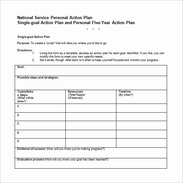 Career Action Plan Template Elegant Career Action Plan Template 15 Free Sample Example