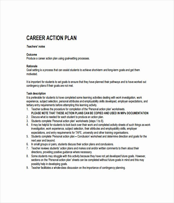 Career Action Plan Template Inspirational 21 Plan Templates Free Word Pdf Documents Download