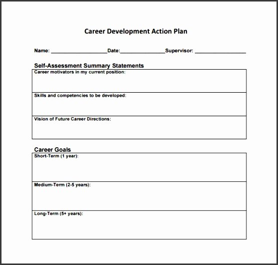 Career Action Plan Template Inspirational 6 Career Plan Template Sample Sampletemplatess