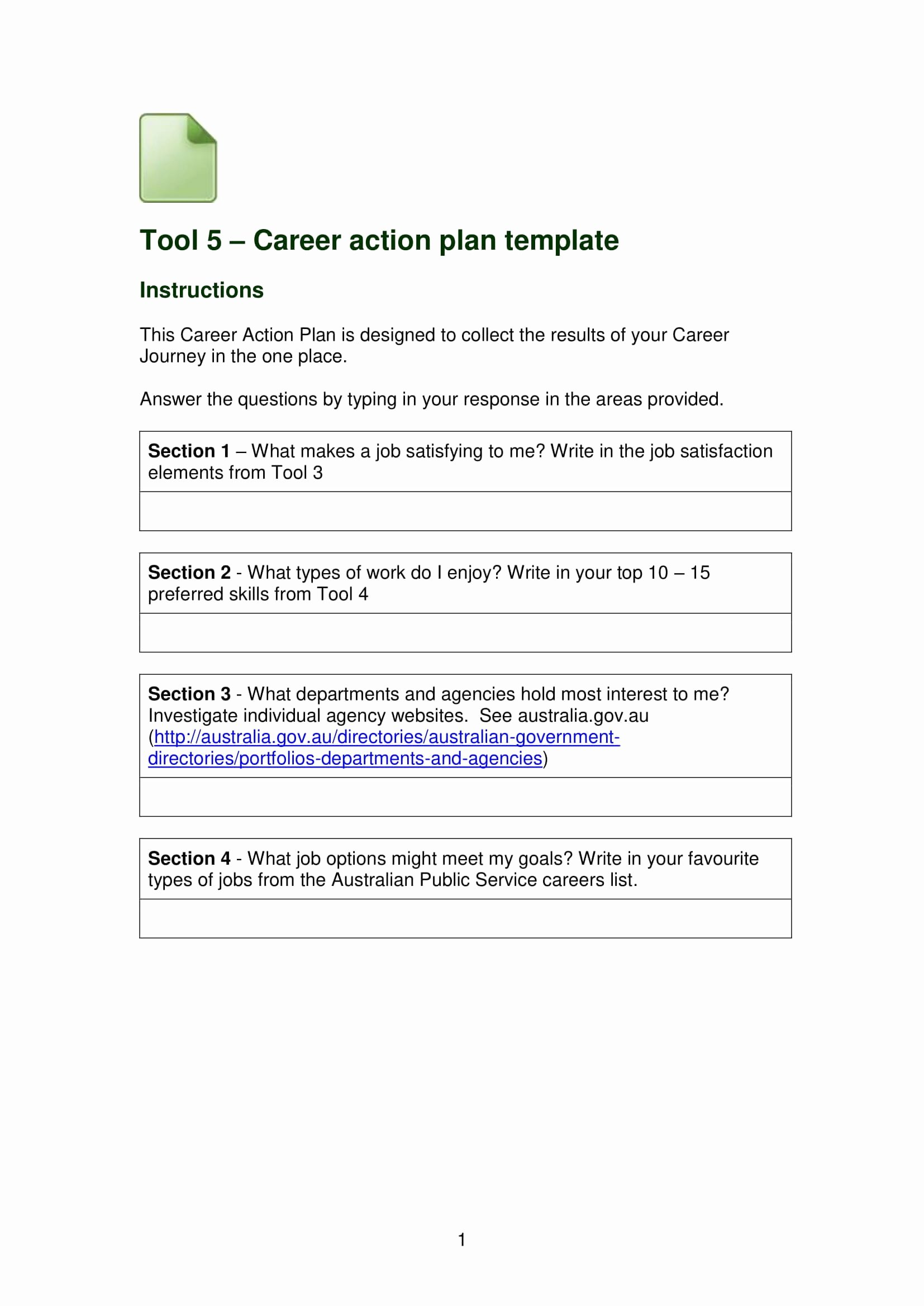 Career Action Plan Template Inspirational 9 Career Action Plans Pdf Doc