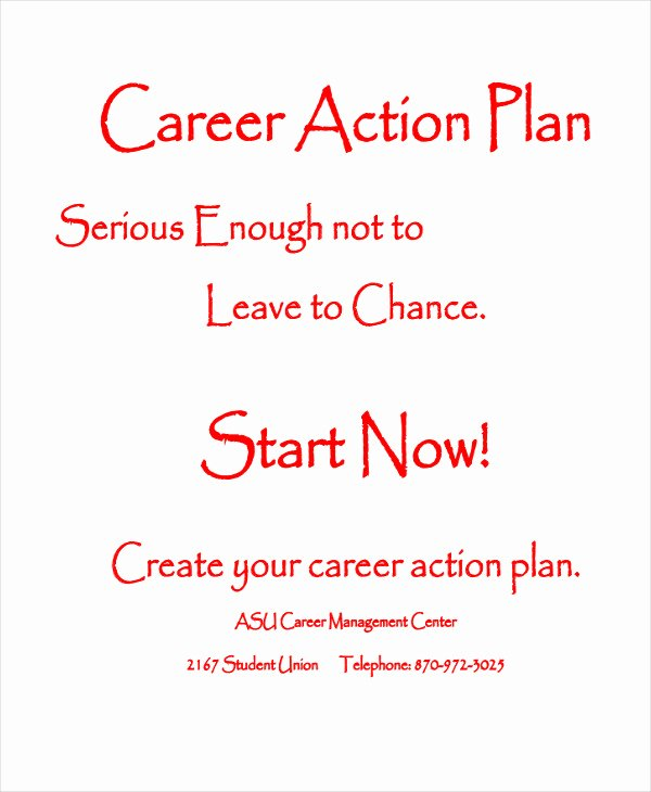 Career Action Plan Template Lovely Student Action Plan Template 9 Free Word Pdf format