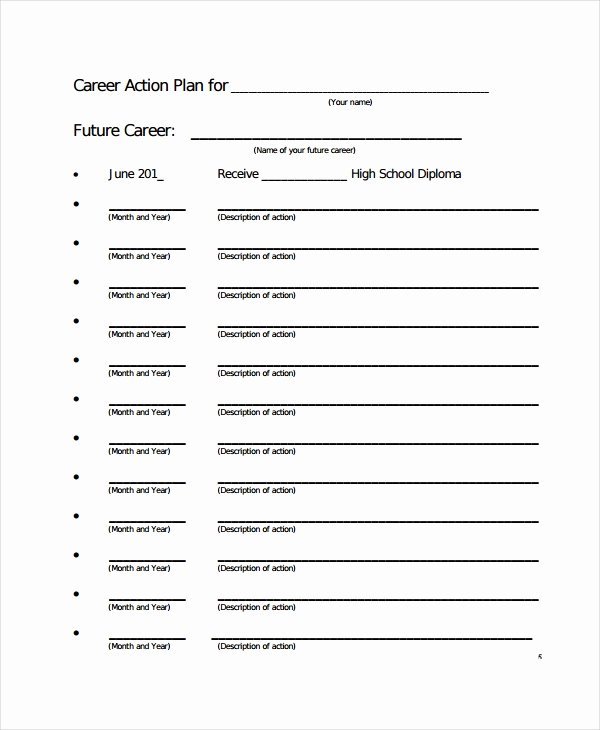 Career Action Plan Template Luxury Career Action Plan Template 15 Free Sample Example