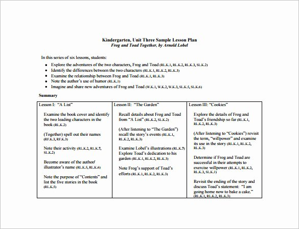 Ccss Lesson Plan Template Luxury Mon Core Lesson Plan Template 8 Free Word Excel