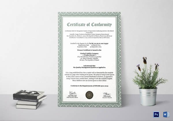 Certificate Of Conformity Template Best Of Sample Conformity Certificate Template 15 Documents In