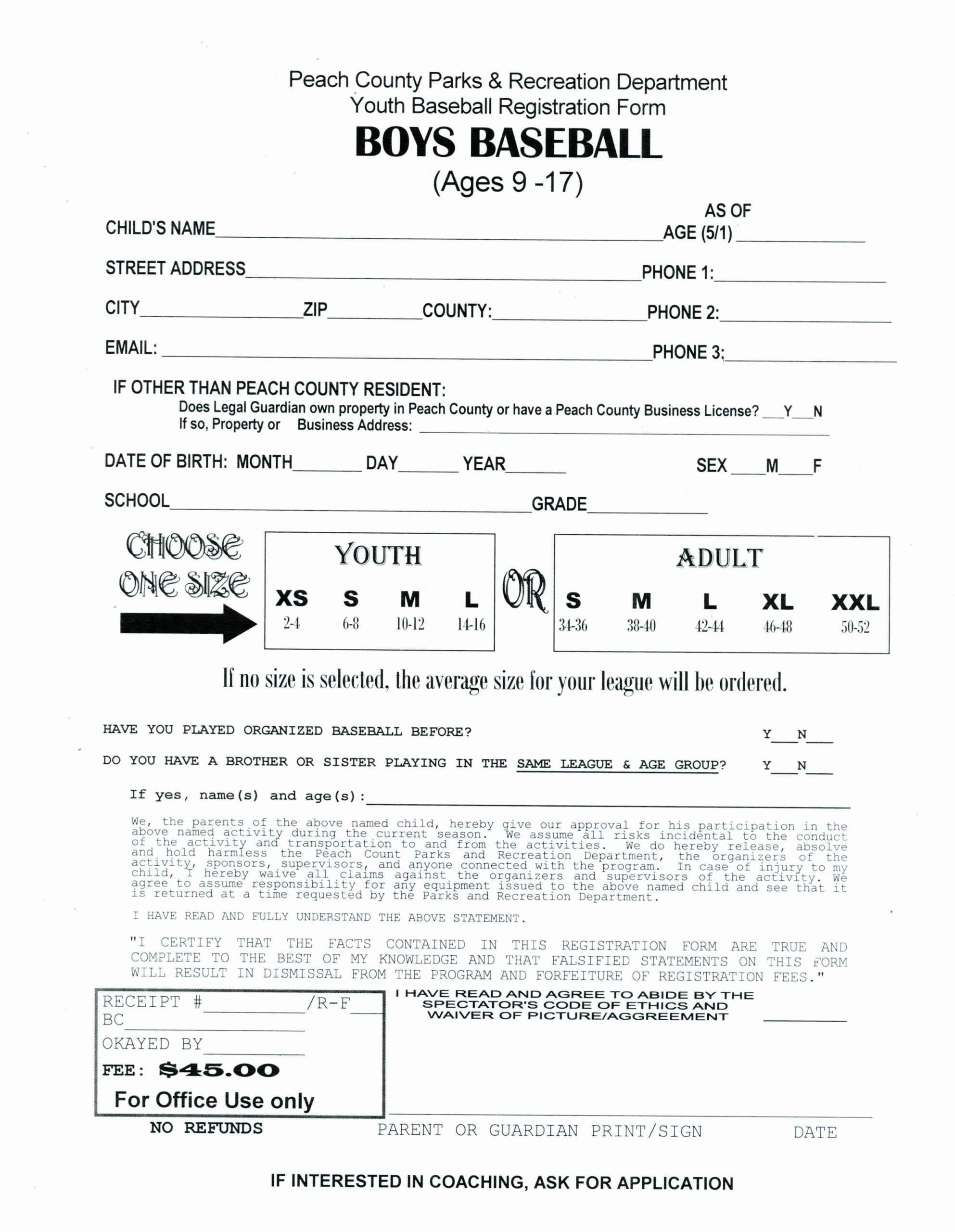 Cheerleading Registration form Template Fresh Index Of Cdn 16 1994 130