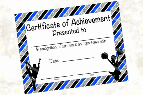 Cheerleading Registration form Template Lovely Cheerleading Certificate Cheerleading Award Cheerleading