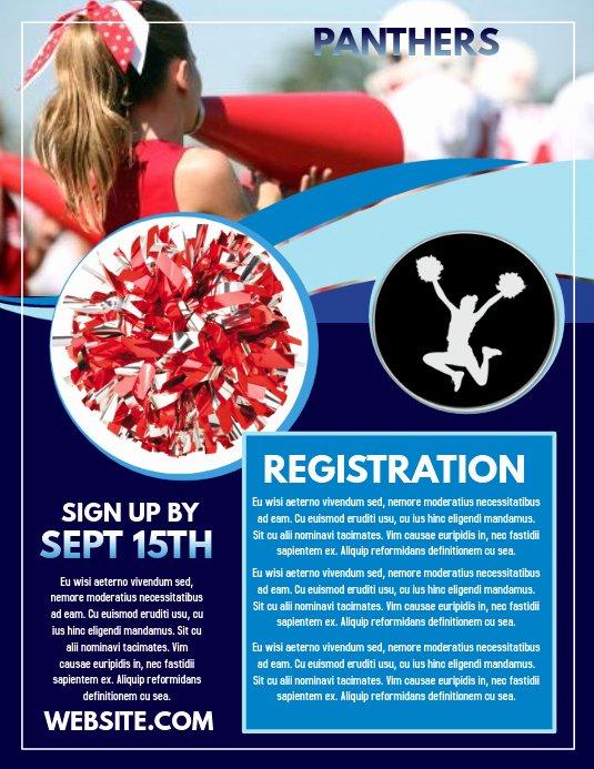 Cheerleading Registration form Template Unique Cheerleading Template