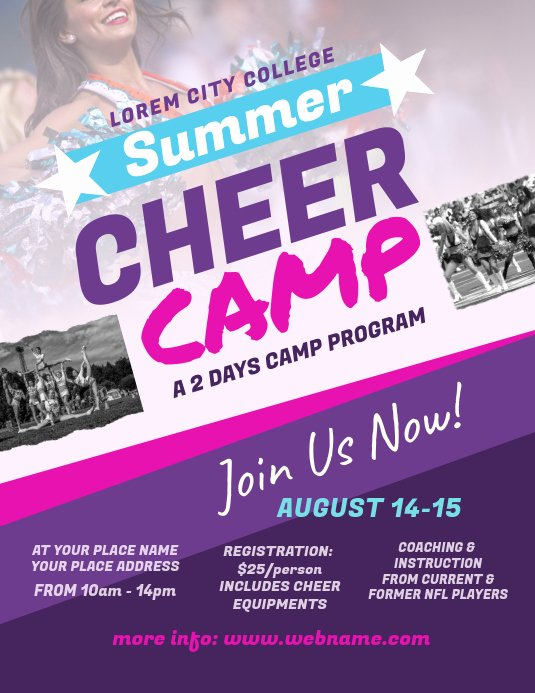 Cheerleading Registration form Template Unique Copy Of Cheer Camp Flyer Template
