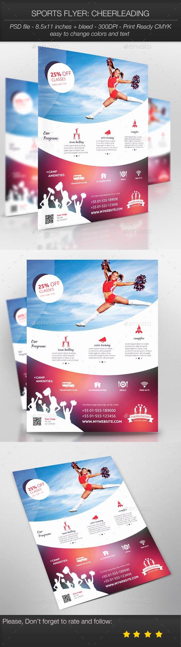 Cheerleading Registration form Template Unique Football and Cheerleading Registration Flyer Templates